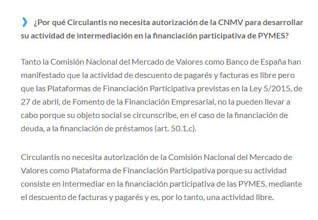 circulantis lista cnmv