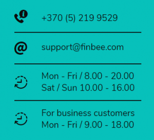 email finbee phone