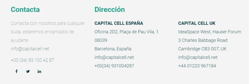 capital cell teléfono