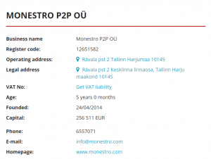 monestro registration