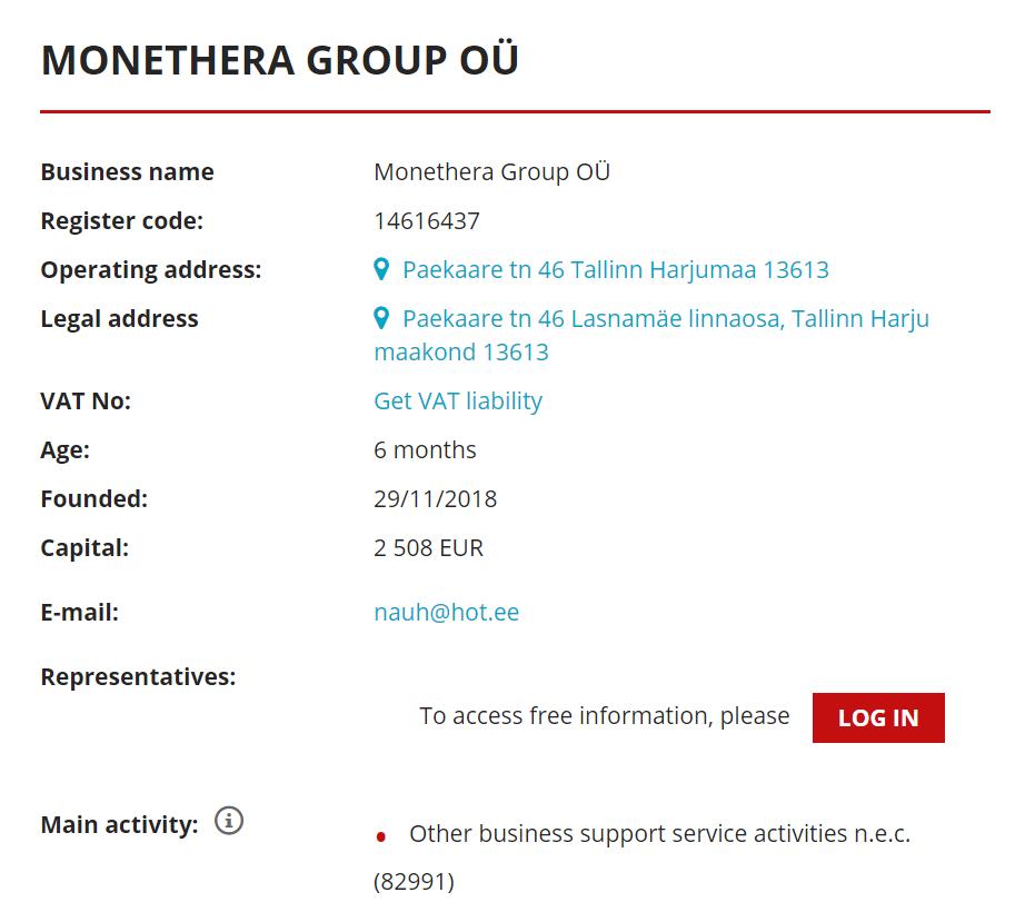 monethera legal