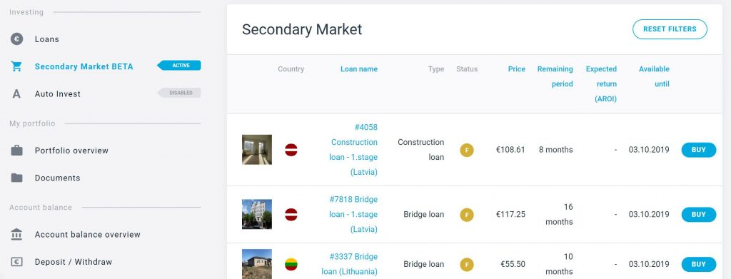 estateguru secondary market