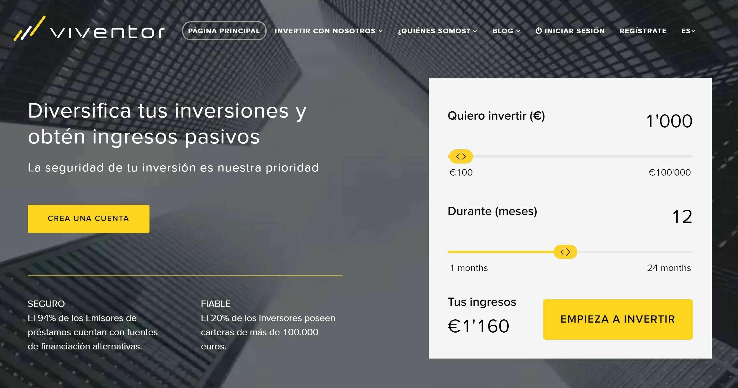 VIVENTOR Opiniones 2021 Review – Marketplace de Préstamos